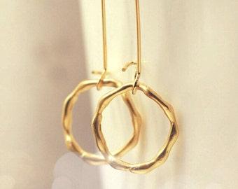 Circle Hoop Earrings Gold Hoop Earrings Bridal Jewelry Bridesmaid Gift Bridal Accessories Gift Set Wedding Limonbijoux