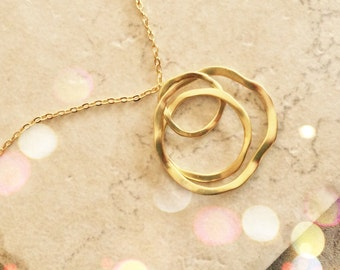 Infinity Necklace Jewelry Good Luck Gift Best Friends Jewelry Necklace Gold Charm Gold Necklace Gold Jewelry Limonbijoux