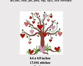 Tree of Hearts Machine Embroidery Design