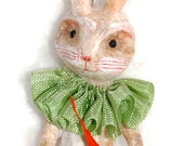 Spun cotton Easter Jack rabbit ornament vintage craft OOAK by jejeMae
