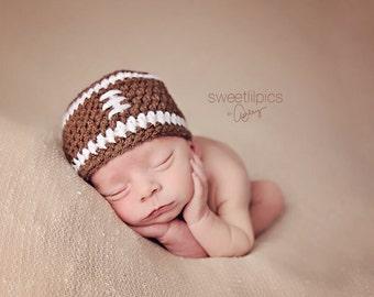 Newborn Boy Football Beanie -Ready to Ship