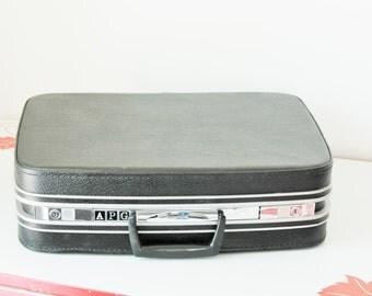 Vintage Black Samsonite Small Suitcase Overnight Case