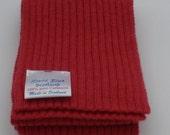 Kiddies 100% Pure Cashmere Knitted Scarf -  Fine Rib Design - Carmen