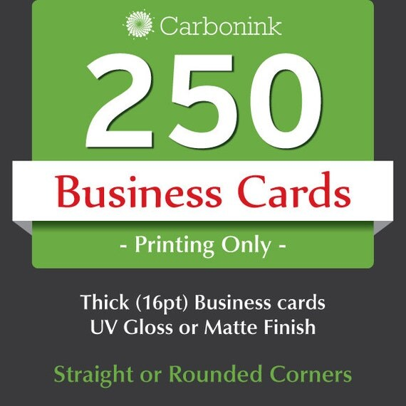 250 business card printing Thick business cards
