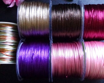 My arts 2mm Satin String /cord price for 5 yards-select color