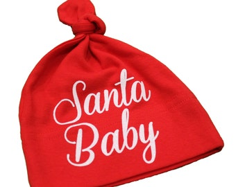 christmas hat, santa baby hat for infants, kids santa hat, baby santa hat