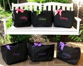 Fun Embroidered large tote bag - perfect carryall- personalized free