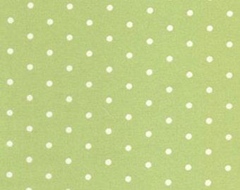 Barefoot Roses by Tanya Whelan Green Dots 1 Yard