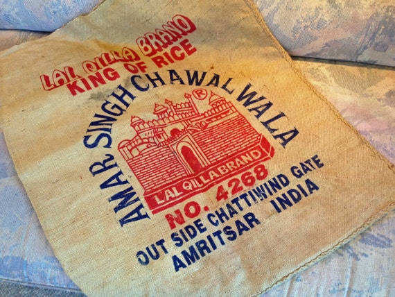 Burlap Rice and/or Coffee Bag