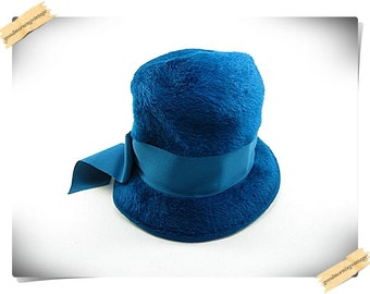 Duchess Blue Wool Hat
