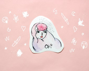 Ok? Attitude Sticker