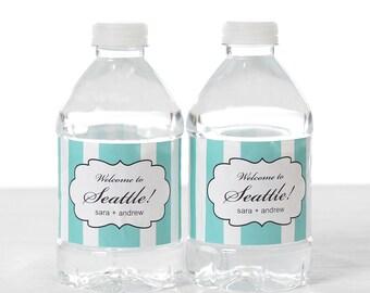 30 Wedding Water Bottle Labels - Wedding Water Labels - Custom Water Bottle Labels - Waterproof Water Bottle Labels