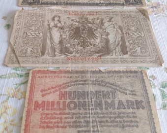 REDUCED  3 Pieces of Old Money 2 from Germany, 1 from Mexico, Sold Separately or together at a discount