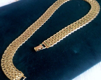 Monet Golden Wave Link Choker Necklace