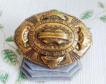 Brass Egyptian Looking Brooch