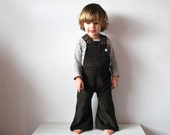 Brown kids overalls flared cotton corduroy toddler dungarees chocolate mud fun play clothes cute fashion clothing summer spring boys girls