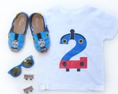 READY TO SHIP Thomas the Train Birthday Shirt, Thomas the Tank Shirt