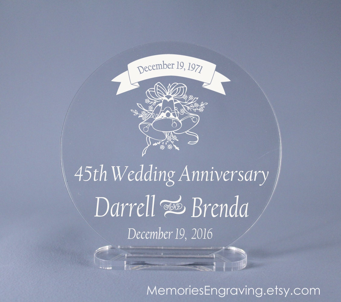 Cake Ideas For 45th Wedding Anniversary : 45th Wedding Anniversary Cake Topper 4 up to 7