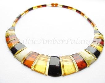 Luxury Baltic Amber Multicolor Choker CLEOPATRA