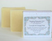 Lavender + orange soap - all natural, cold process, vegan,  essential oil soap. Handmade in Connecticut. Small batch handcrafted.