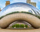 Chicago Cloud Gate -- Panoramic Photo Print
