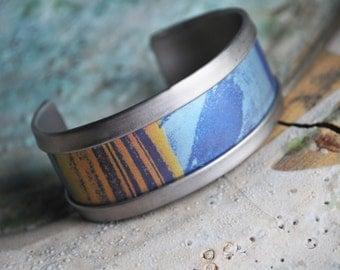Spacescape Saturn Titanium Anodized Cosmos Bracelet