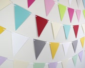 Party Banner / birthday party decoration, baby shower decor, bridal shower, wedding banner - Custom Colors
