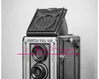 Fine Art Photography - 16x24 Canvas Gallery Wrap - Spartus Full-Vue Vintage Camera