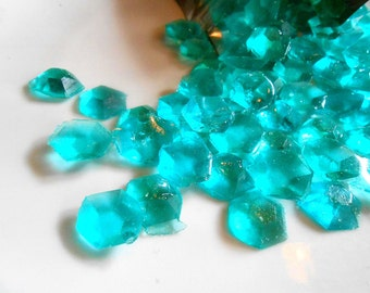 March Birthstone, Aquamarine, Edible Gems, Candy Gems, Birthday Cake Decorations, Hard Candy, Aqua