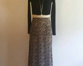 90s grunge revival sheer floral maxi skirt