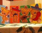 Cute Fiesta Bears Goody Bags