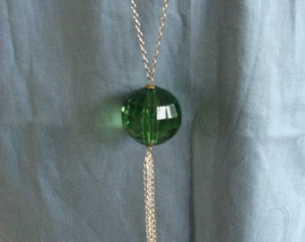 Green Sphere Necklace