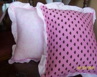 Decorative Pink Hershey's kiss Ruffled Throw Pillows