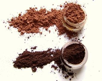 Mineral Eye Makeup Look - Hot Cocoa Eye Shadow Collection - Ideas For Mom -  Coordinating Eye Shadows - Vegan Shadows - Vegan Makeup