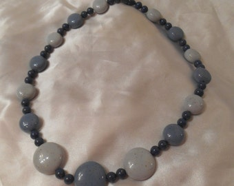 Avon Sand Pebbles Bead Necklace in Sea Blue