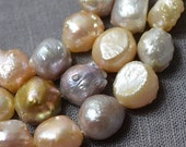 Freshwater Large Hole Pearl Baroque pearl Pebble Mixed Color Loose Beads 10-11mm 33pcs Full Strand Item No : PL3106