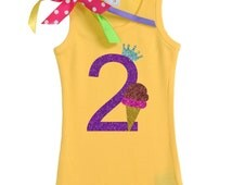 2nd Birthday Outfit, Double Scoop, Chocolate Strawberry Ice Cream, Ice Cream Social, Ice Cream Birthday, Sparkle Birthday Tee, Personalized