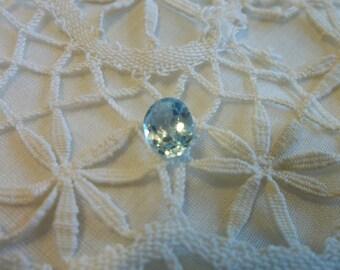 Genuine 1 Carat Pale Blue Topaz...Ready To Set...Jeweler...Semi Precious...OVAL CUT...March Birthstone
