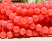 "Coral Beads 5.7mm 15 3/4"" Strand Coral Beads Gemstone Beads Jewelry Making Supplies"