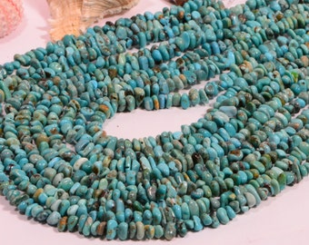 """Turquoise 7x4x2.6mm 16"""" Strand Beads Nuggets Turquoise Beads natural Gemstone Beads Jewelry Making Supplies"""