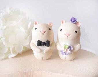 Custom Wedding Cake Toppers - Love Hamster