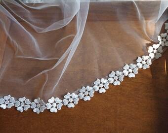 off white lace trim, bridal trim lace, retro floral lace trim,  venise lace, guipure lace trim