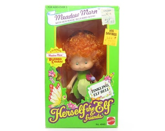 Meadow Morn Doll MIB Factory Sealed NRFB Herself the Elf Toy with Charm Bracelet, Comb, Wand, Dress, Shoes
