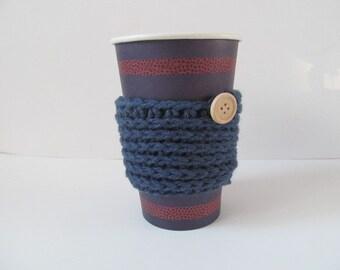 Dark Blue Coffee Cozy