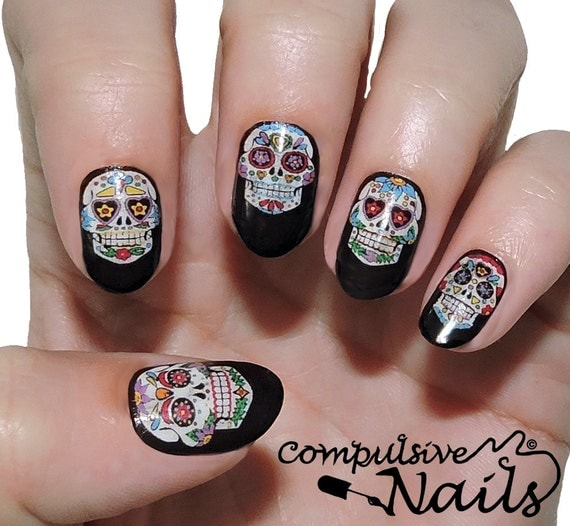 halloween nails wrap gradient full nail sticker halloween nail wrap