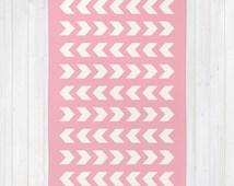 30 colours, CHEVRON Pattern Area Rug 2x3, Candy Pink Floor Rugs 3x5, Pink and Cream Geometric 4x6 rug, Arrow Pattern Rug, Nursery Rug