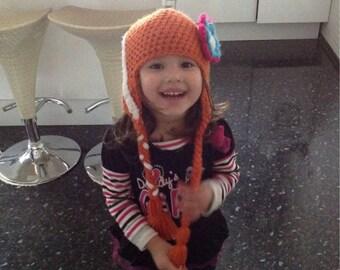 Crochet Anna Beanie/Hat (Disney's Frozen)