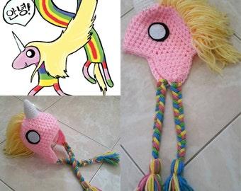 Crochet Lady Rainicorn Beanie/Hat (Adventure Time)
