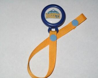 Denver Nuggets Pacifier Clip