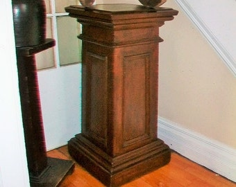 Huge Decorative Stand Wood Plant Stand Antique Stand 1800s